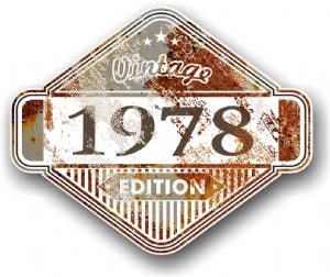 Rusty Patina Aged Vintage Edition  Year 1978 Design Vinyl Car sticker decal  85x70mm